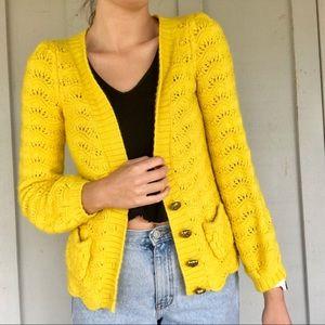 Juicy Couture mustard cardigan